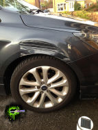 Ford focus wing dent and scrape repair
