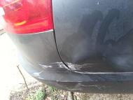Audi A4 rear quarter wheel arch paintwork dent and car scratch repair