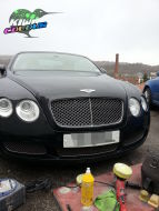 Black Bentley minor bonnet scuff removal