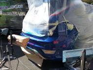 Ford Focus ST rear bumper paint scuff repair