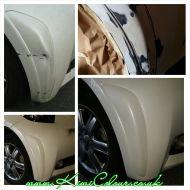 Pearl White Toyota IQ bumper repair