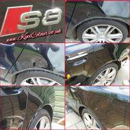 Audi S8 huge dent repair
