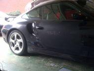 Porsche Turbo door chip and scratch ' smart ' repair
